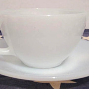 Fire King Cup & Saucer Set  - 4000 Line  HTF & Perfect