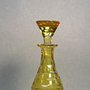 Yellow Cut Glass Decanter ca. 1910
