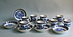 Set of 8 New Hall Coffee Cans and Saucers
