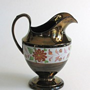 Decorated Copper Luster Pitcher ca. 1840
