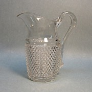 Diamond Point Flint Water Pitcher ca. 1865