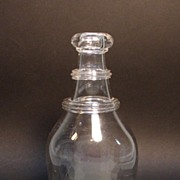 Blown Glass Bar Decanter with Neck Rings