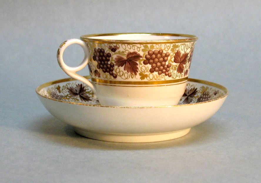 Early Spode Cup with Saucer, circa 1815