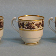 Three Barr Period Worcester Porcelain  Small Cups circa. 1800