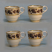 Four Barr Period Worcester Porcelain  Small Cups circa 1800