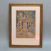 Watercolor of New England Doorway Circa 1890-1910
