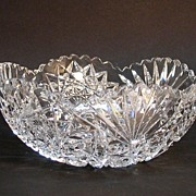 Brilliant Period Cut Glass Bowl Ca. 1900