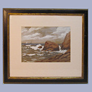 Watercolor/Gouache Seascape 1926