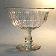 Large Blown and Cut Compote ca. 1840