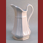 White Ironstone Boote�s 1851 Pitcher (Ewer)