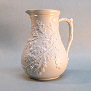 Relief Molded Stoneware Pitcher ca. 1850