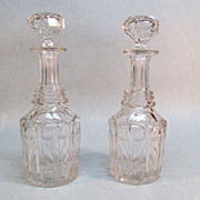 Pair Cut Glass Decanters ca. 1900