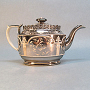 Silver Luster Resist Decorated Teapot ca. 1810