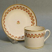 Porcelain Coffee Can with Saucer ca. 1815
