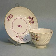 Worcester Tea Bowl and Saucer ca. 1795