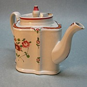 New Hall Porcelain Teapot circa 1800