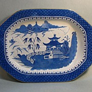 �Stone China� Well and Tree Platter ca. 1825