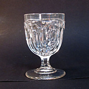 "Flint Eggcup ""Washington"" Pattern ca. 1860"