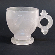 1880's Glass Swan Pattern Childs Cup
