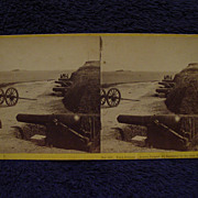 1865 Civil War FORT JOHNSON John P Soule Stereoview James Island, Charleston, SC Ft Sumter in