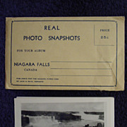 Set 1940-50s NIAGARA FALLS,Canada/US 10 Velox PHOTO Snapshots w/Mailing Envelope by Jack Bain,