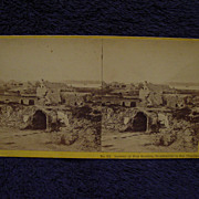 1865 Civil War FORT MOULTRIE Sally Port & Ruins John P Soule Stereoview Charleston, SC Moultri