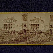 1865 Civil War O'CONNER HOUSE Charleston, SC John P Soule Stereoview Fire/War Ruins Where Unio
