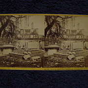 1865 Civil War CHARLESTON, SC Building Ruins & Shell Damage John P Soule Stereoview Tomb at Ci