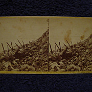 1865 Civil War FORT SUMTER John P Soule Stereoview Charleston,SC Sea Face DEBRIS toward Morris