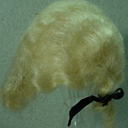Effanbee George Washington Original White Mohair Wig, 1930's.