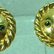 1980�s Moritz Gold Tone Clip On Earrings, Elegant!