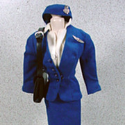 Mattel Barbie Outfit, American Airlines Stewardess, Complete and Mint, 1961.
