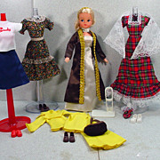 Marx Sindy Doll with Wardrobe, Late 1970�s, Mint and Complete!