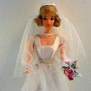 1974 Quick Curl Miss America Barbie in Barbie Wedding Gown #7176