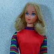 Mattel 1973 Quick Curl Barbie in Get-Ups� n Go United Airline Hostess Outfit!