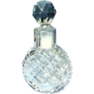 Early Victorian Tiny Perfume with Faceted Ground Glass Stopper