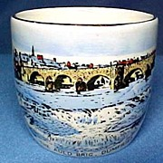 Souvenir Pottery Egg Cup  Old Bridge in Dumfries By Myott