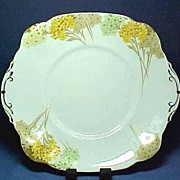 English Bone China Cake or Sandwich Serving Plate