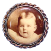 Victorian Photo Brooch with Adorable Baby