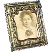 Antique Art Nouveau Ornate Miniature  Picture Frame