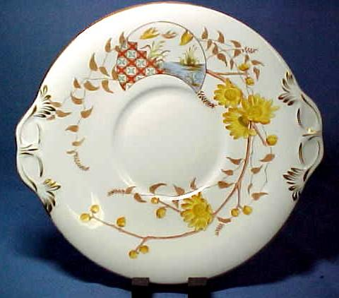 Antique China Cake Plate Copeland & Garrett C1833