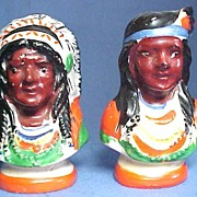 Indian Chief and Squaw Salt and Pepper Shakers