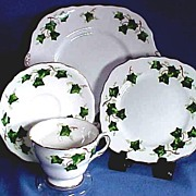 English China Tea Set for Six with Ivy by Colclough China