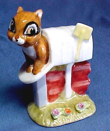 Enesco Chipmunk in Mailbox Figure 1976