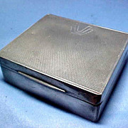 Art Deco Pewter Cigarette Box James Dixon