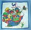 Child's Handkerchief Hanky Hankie with Pirates