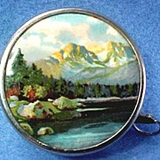 Retractable Sewing Tape with Scene Mountain and Lake
