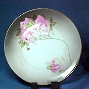 Bavarian China Plate with Lovely Pink Roses