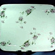 Bavarian Porcelain Dresser Tray with Wild Roses