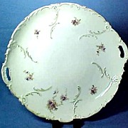 Victorian Porcelain Serving Plate Gorgeous Shape Hand Painted